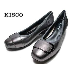 キスコ KISCO バックルベルトパンプス カジュアルパンプス ピューター レディース 靴|nws