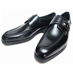 ケンフォード KENFORD 幅広3Eウィズ モンクストラップ ビジネスシューズ ブラック メンズ 靴|nws
