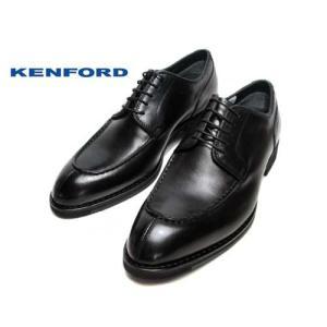 ケンフォード KENFORD ポインテッド ラウンドトウ Uチップ ビジネスシューズ ブラック メンズ 靴|nws