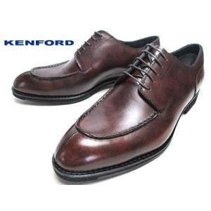 ケンフォード KENFORD ポインテッド ラウンドトウ Uチップ ビジネスシューズ ダークブラウン メンズ 靴|nws