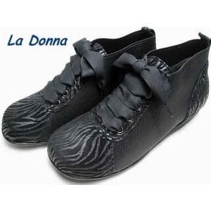 ラドンナ  La Donna レースアップコンフォートカジュアルシューズ ブラック レディース・靴|nws