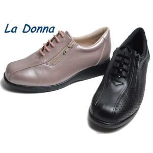 ラドンナ La Donna 4609 3E ファスナー付きカジュアルシューズ レディース 靴 nws