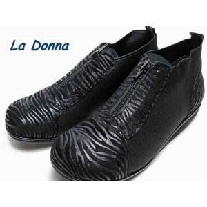 ラドンナ  La Donna コンフォートカジュアルシューズ ブラック レディース・靴|nws