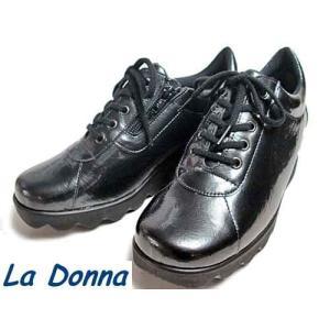 ラドンナ  La Donna レースアップカジュアルシューズ ガンメタ レディース・靴|nws