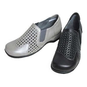 ロワールエシェール LOIR et CHER パンチングデザインカジュアルシューズ レディース 靴|nws