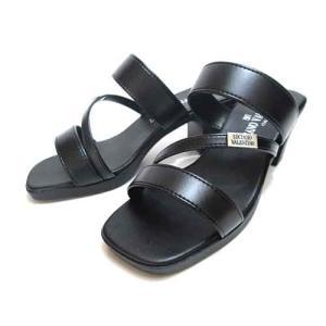 LUCIANO VALENTINO ルチアーノバレンチノ オフィス履き 普段履き サンダル 黒 レディース 靴