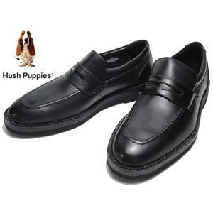ハッシュパピー Hush Puppies M884 ローファー ビジネスシューズ  クロ ワイズ:4E メンズ 靴|nws