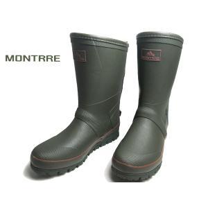 アキレス モントレ MONTRRE MB759 防寒レインブーツ カーキ メンズ 靴|nws