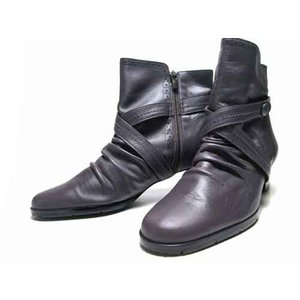 ミッシー デ ミッシー missy des missy ベルトデザインショートブーツ パープル レディース・靴 nws