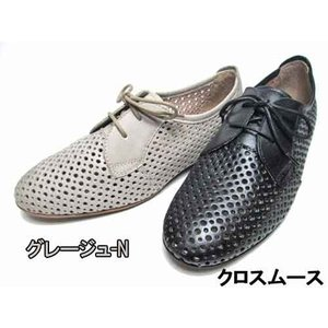 モードカオリ MODE KAORI パンチングデザインレースアップシューズ レディース・靴 nws