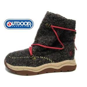 アウトドアプロダクツ OUTDOOR PRODUCTS スニーカーブーツ 編み上げタイプ ブラウン レディース 靴 nws