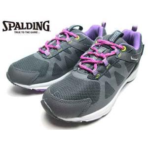スポルディング SPALDING ノルディック ウォーキングシューズ グレーパープル レディース 靴 nws