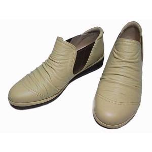 ピサ Pisaz 1281 ワイズ3E サイドゴアシュリンクレザーシューズ レディース 靴 nws