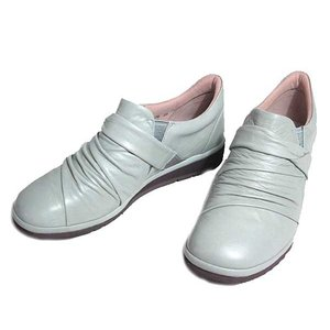 ピサ Pisaz 1379 ワイズ3E スリッポンタイプ プラットシューズ ライトグレー レディース 靴|nws