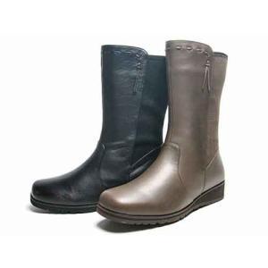ピサ Pisaz ローウエッジミドルブーツ レディース・靴
