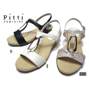 ピッティ Pitti ローウエッジバックバンドサンダル レディース・靴|nws