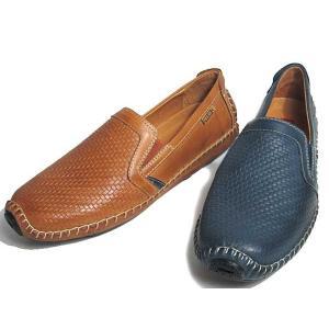 ピコリノス PIKOLINOS ドライビングシューズ パンチングスリップオン メンズ 靴|nws