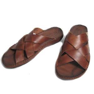 ピコリノス PIKOLINOS コンフォートサンダル ブラウン メンズ 靴|nws