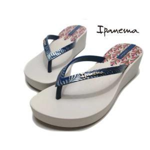 イパネマ IPANEMA ART DECO 厚底トングサンダル ベージュ レディース 靴|nws
