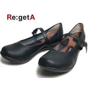 リゲッタ Re:getA R2361 コンフォートパンプス ストラップパンプス ブラック レディース 靴 nws