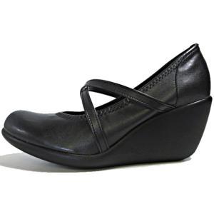 リゲッタ Re:getA ハイウェッジパンプス コンフォートシューズ バレエタイプ ブラック レディース 靴 nws