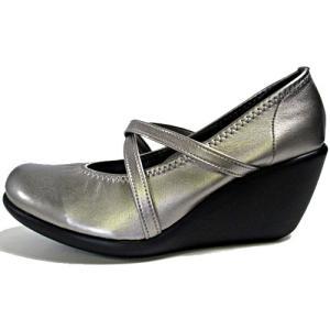 リゲッタ Re:getA ハイウェッジパンプス コンフォートシューズ バレエタイプ ガンメタ レディース 靴 nws