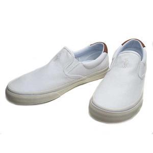 ポロラルフローレン POLO RALPH THOMPSON トンプソン ワイズD ホワイト スニーカー メンズ 靴|nws