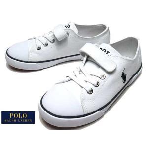 ポロラルフローレン Polo RalphLauren CARSON EZ スニーカー ホワイト キッズ 靴|nws