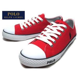 ポロラルフローレン Polo RalphLauren CARSON スニーカー レッド キッズ レディース 靴|nws