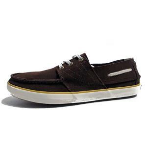 トレトン Tretorn オットー デッキシューズタイプ レザースニーカー ブラウン メンズ 靴|nws