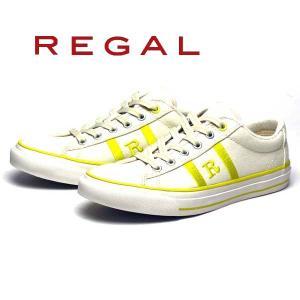 リーガル REGAL レディース 定番Rマークスニーカー BE58 AJ ヒール:5mm ホワイトイエロー|nws