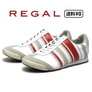 リーガル REGAL レディースカジュアル レザースニーカー BE72 AD ヒール:18mm ホワイトオレンジ nws