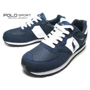 ポロ スポーツ ラルフローレン POLO SPORT RALPH LAUREN SLATON PONY ランニン スニーカー ネイビー メンズ 靴|nws