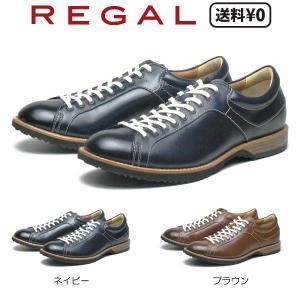 リーガル REGAL メンズカジュアル レースアップ レザースニーカー 57RR AH|nws
