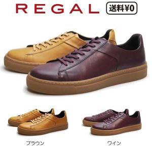 リーガル REGAL メンズカジュアル レザースニーカー 72UR BJ|nws