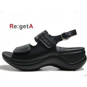 リゲッタ Re:getA ローリングサンダル ワークサンダル 厚底ストラップサンダル ブラック レディース 靴 nws