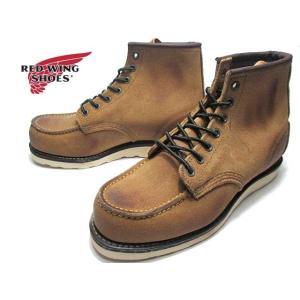 レッドウィング RED WING SHOES RW8861 クラシックワーク 6インチ モックトゥ メンズ 靴|nws
