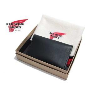 RED WING レッドウィング カードケース 名刺入れ ブラック メンズ アクセサリー|nws