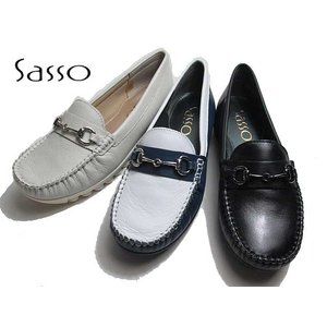 サッソー Sasso SASQ02204 3E モカシンシューズ ビットシューズ レディース 靴|nws