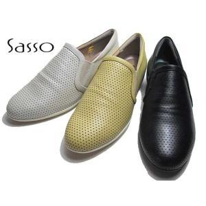 サッソー Sasso SASQ02209 ワイズ3E パンチングデザインカジュアルシューズ レディース 靴|nws