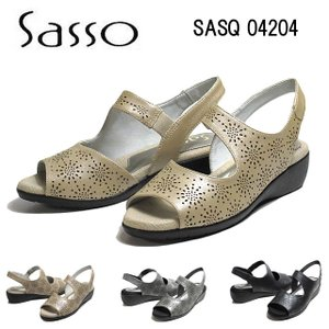 サッソー Sasso SASQ04204 3E パンチングデザインサンダル レディース 靴|nws