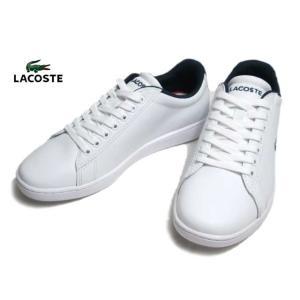 ラコステ LACOSTE SFA0048 CARNABY EVO TRI 1 ホワイトネイビーレッド スニーカー レディース 靴|nws