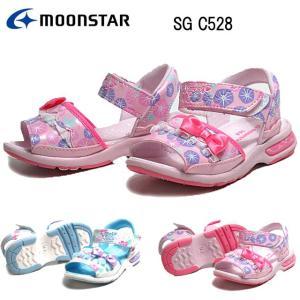 ムーンスター MOONSTAR SG C528 ガールズ キッズサンダル 子供靴|nws