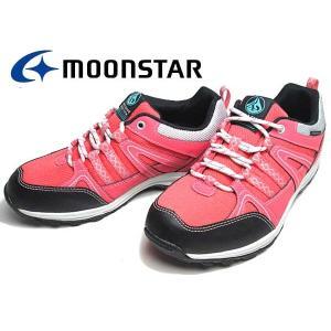 ムーンスター MOONSTAR サプリスト ウォーキングシューズ  スニーカー ピンク レディース 靴|nws