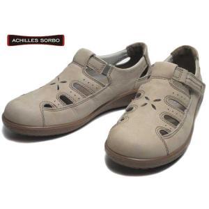 アキレスソルボ Achilles SORBO 200 コンフォート カジュアルシューズ 面ファスナー付ベルト ヌバックサンド レディース 靴|nws