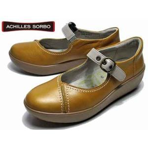 アキレスソルボ Achilles SORBO コンフォート  ストラップカジュアルシューズ マスタード レディース 靴|nws