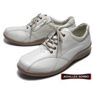 アキレスソルボ Achilles SORBO コンフォート  カジュアルシューズ サイドファスナー付 オフホワイト レディース 靴|nws