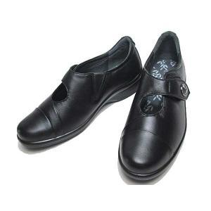 アキレスソルボ Achilles SORBO 386 ワイズ3E ベルトタイプ 黒 レディース 靴|nws