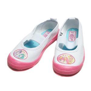 スター☆トゥインクルプリキュア 7506 バレーシューズ 上履き ホワイトピンク キッズ 靴|nws