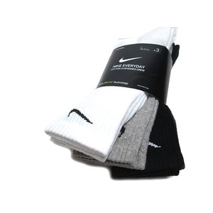 NIKE ナイキ エブリデイ クッション クルー トレーニングソックス 3足 マルチカラー メンズ レディース 靴下|nws